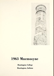Page 5, 1963 Edition, Huntington College - Mnemosyne Yearbook (Huntington, IN) online yearbook collection
