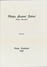 Page 3, 1954 Edition, Phelps Central High School - Highlights Yearbook (Phelps, NY) online yearbook collection