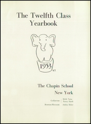 Page 5, 1953 Edition, Chapin School - Yearbook (New York, NY) online yearbook collection