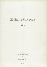Page 7, 1949 Edition, St Marys High School - Dulces Memoriae Yearbook (Katonah, NY) online yearbook collection