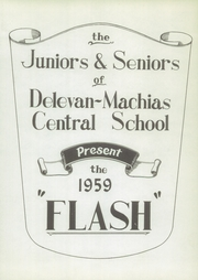 Page 5, 1959 Edition, Delevan Machias Central High School - Flash Yearbook (Machias, NY) online yearbook collection
