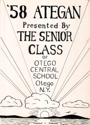 Page 5, 1958 Edition, Otego High School - A Te Gen Yearbook (Otego, NY) online yearbook collection