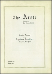 Page 7, 1927 Edition, Aquinas Institute - Arete Yearbook (Rochester, NY) online yearbook collection