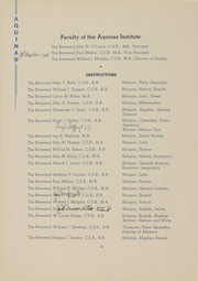 Page 11, 1939 Edition, Aquinas Institute - Arete Yearbook (Rochester, NY) online yearbook collection