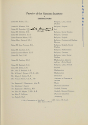 Page 12, 1939 Edition, Aquinas Institute - Arete Yearbook (Rochester, NY) online yearbook collection