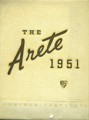 Aquinas Institute - Arete Yearbook (Rochester, NY) online yearbook collection, 1951 Edition, Page 1