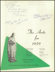 Page 5, 1959 Edition, Aquinas Institute - Arete Yearbook (Rochester, NY) online yearbook collection