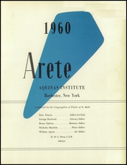 Page 5, 1960 Edition, Aquinas Institute - Arete Yearbook (Rochester, NY) online yearbook collection