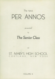 Page 5, 1944 Edition, St Marys High School - Per Annos Yearbook (Cortland, NY) online yearbook collection