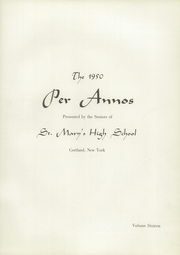 Page 5, 1950 Edition, St Marys High School - Per Annos Yearbook (Cortland, NY) online yearbook collection