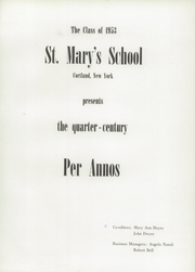 Page 5, 1953 Edition, St Marys High School - Per Annos Yearbook (Cortland, NY) online yearbook collection