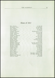 Page 13, 1927 Edition, St Patricks Academy - Patrician Yearbook (Binghamton, NY) online yearbook collection
