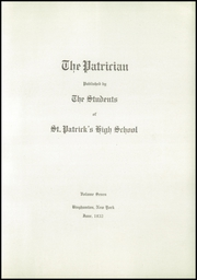 Page 9, 1932 Edition, St Patricks Academy - Patrician Yearbook (Binghamton, NY) online yearbook collection