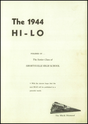 Page 5, 1944 Edition, Shortsville High School - Hi Lo Yearbook (Shortsville, NY) online yearbook collection