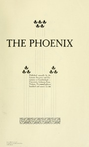 Page 7, 1896 Edition, Cumberland University - Phoenix Yearbook (Lebanon, TN) online yearbook collection