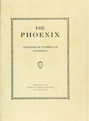 Page 5, 1924 Edition, Cumberland University - Phoenix Yearbook (Lebanon, TN) online yearbook collection