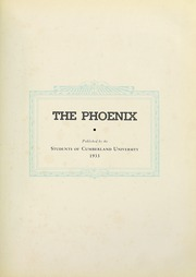 Page 7, 1933 Edition, Cumberland University - Phoenix Yearbook (Lebanon, TN) online yearbook collection