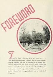 Page 8, 1941 Edition, Cumberland University - Phoenix Yearbook (Lebanon, TN) online yearbook collection