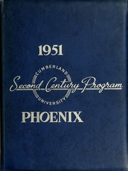 Page 1, 1951 Edition, Cumberland University - Phoenix Yearbook (Lebanon, TN) online yearbook collection