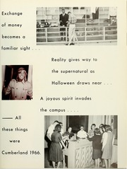 Page 17, 1966 Edition, Cumberland University - Phoenix Yearbook (Lebanon, TN) online yearbook collection