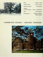 Page 6, 1966 Edition, Cumberland University - Phoenix Yearbook (Lebanon, TN) online yearbook collection