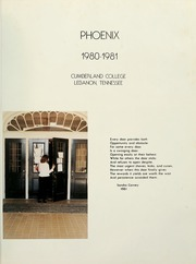 Page 5, 1981 Edition, Cumberland University - Phoenix Yearbook (Lebanon, TN) online yearbook collection