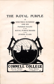Page 2, 1906 Edition, Cornell College - Royal Purple Yearbook (Mount Vernon, IA) online yearbook collection