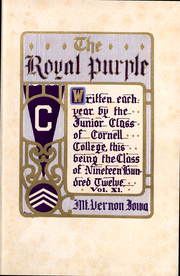 Page 3, 1912 Edition, Cornell College - Royal Purple Yearbook (Mount Vernon, IA) online yearbook collection