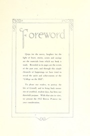 Page 13, 1922 Edition, Cornell College - Royal Purple Yearbook (Mount Vernon, IA) online yearbook collection