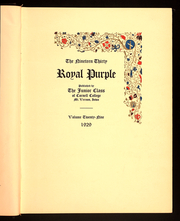 Page 7, 1930 Edition, Cornell College - Royal Purple Yearbook (Mount Vernon, IA) online yearbook collection