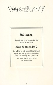 Page 10, 1911 Edition, Otterbein University - Sibyl Yearbook (Westerville, OH) online yearbook collection