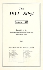 Page 7, 1911 Edition, Otterbein University - Sibyl Yearbook (Westerville, OH) online yearbook collection
