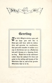 Page 9, 1911 Edition, Otterbein University - Sibyl Yearbook (Westerville, OH) online yearbook collection