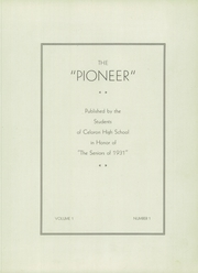 Page 7, 1931 Edition, Celoron High School - Sentinel Yearbook (Celoron, NY) online yearbook collection