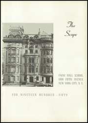 Page 5, 1950 Edition, Paine Hall School - Scope Yearbook (New York, NY) online yearbook collection