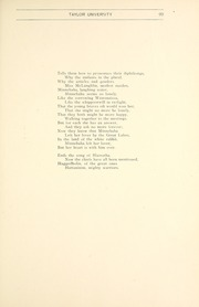 Page 103, 1903 Edition, Taylor University - Ilium Gem Yearbook (Upland, IN) online yearbook collection