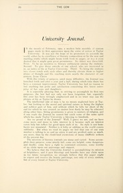Page 90, 1903 Edition, Taylor University - Ilium Gem Yearbook (Upland, IN) online yearbook collection
