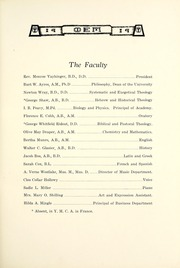 Page 15, 1919 Edition, Taylor University - Ilium Gem Yearbook (Upland, IN) online yearbook collection