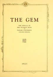 Page 7, 1923 Edition, Taylor University - Ilium Gem Yearbook (Upland, IN) online yearbook collection