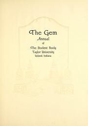 Page 9, 1926 Edition, Taylor University - Ilium Gem Yearbook (Upland, IN) online yearbook collection
