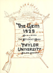 Page 9, 1929 Edition, Taylor University - Ilium Gem Yearbook (Upland, IN) online yearbook collection