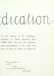 Page 11, 1939 Edition, Taylor University - Ilium Gem Yearbook (Upland, IN) online yearbook collection