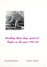 Page 5, 1945 Edition, Taylor University - Ilium Gem Yearbook (Upland, IN) online yearbook collection