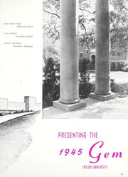 Page 7, 1945 Edition, Taylor University - Ilium Gem Yearbook (Upland, IN) online yearbook collection