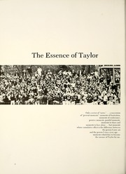 Page 6, 1970 Edition, Taylor University - Ilium Gem Yearbook (Upland, IN) online yearbook collection
