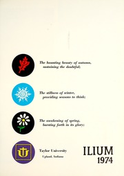 Page 5, 1974 Edition, Taylor University - Ilium Gem Yearbook (Upland, IN) online yearbook collection