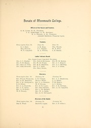 Page 15, 1900 Edition, Monmouth College - Ravelings Yearbook (Monmouth, IL) online yearbook collection