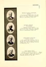 Page 17, 1912 Edition, Monmouth College - Ravelings Yearbook (Monmouth, IL) online yearbook collection