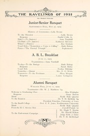 Page 157, 1921 Edition, Monmouth College - Ravelings Yearbook (Monmouth, IL) online yearbook collection