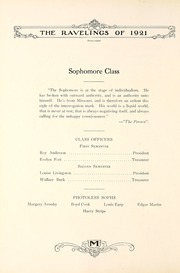 Page 74, 1921 Edition, Monmouth College - Ravelings Yearbook (Monmouth, IL) online yearbook collection